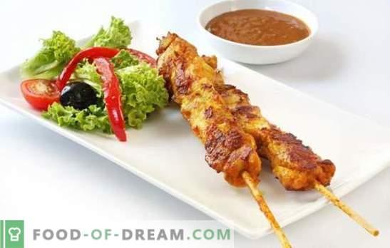 Kebab de mama es la variante dietética del plato favorito. Recetas de pepinillos y formas de cocinar brochetas de pechuga
