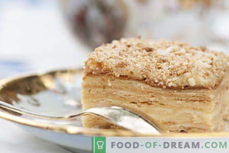 Pastel de Napoleón - Las mejores recetas. Cómo cocinar correctamente y pastel de Napoleón.