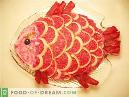 Ensaladas de pescado - las mejores recetas. Cómo cocinar ensaladas de pescado y sabroso.