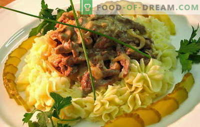 Stroganoff de ternera - las mejores recetas. Cómo cocinar adecuadamente y sabrosa carne de vaca stroganoff.