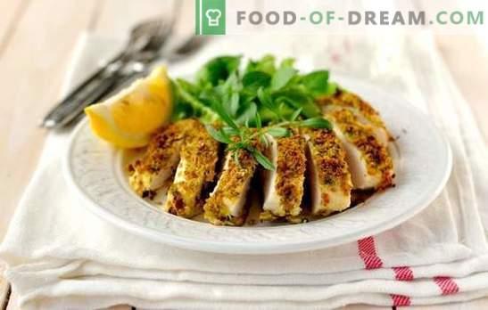 Pechuga de pollo rápida y sabrosa - ¡es posible! Recetas de pechuga de pollo rápidas y sabrosas en el horno, cocción lenta, en la sartén