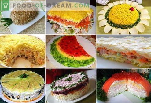 Ensaladas de hojaldre - las mejores recetas. Cómo cocinar adecuadamente y sabrosamente las ensaladas de hojaldre.