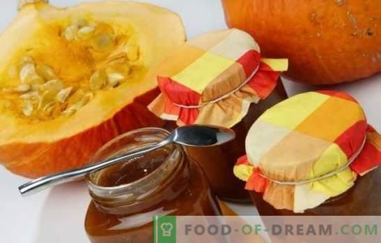 ¡La mermelada de calabaza es un manjar brillante útil en la reserva! Recetas de mermelada de calabaza con girasol con cítricos, manzanas, nueces