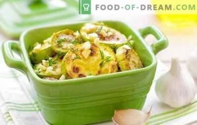 Calabacín con cebollas - ¡una suerte de coincidencia! Las mejores recetas de calabacín con cebollas, zanahorias, tomates y otros vegetales