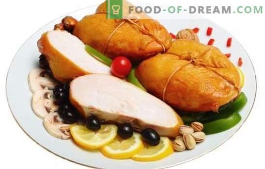Pechuga ahumada: carne aromática dietética. Las mejores recetas de pechuga ahumada casera. ¿Qué se puede cocinar con él?