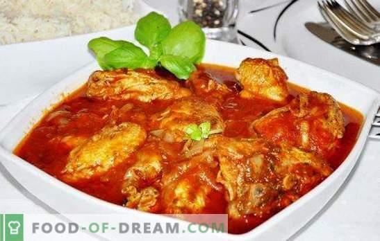 Los cocineros de pollo de un pollo en un multicooker - ¡un plato generoso! Recetas de pollo chakhokhbili hospitalario en una olla de cocción lenta