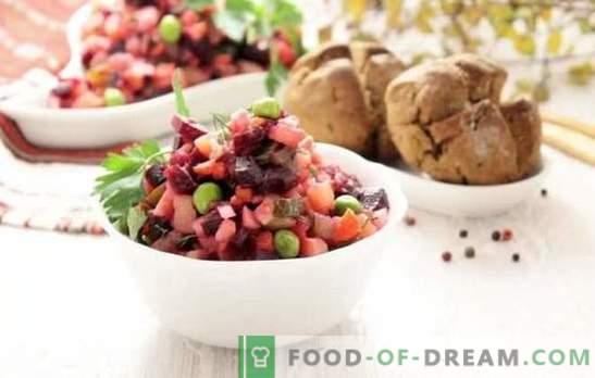 Vinagreta clásica: una receta paso a paso para la ensalada más brillante. Cocinando la ensalada clásica con recetas paso a paso con col y pepinos