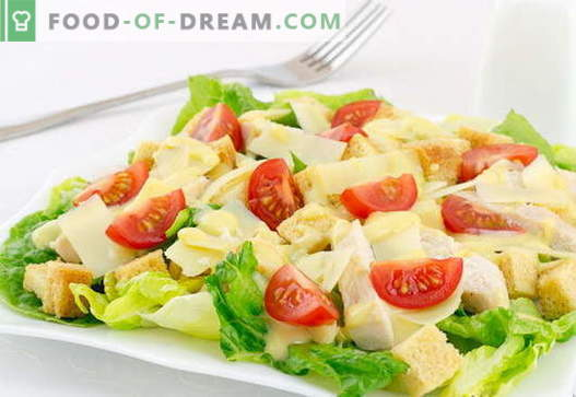 Ensalada César con pollo - las mejores recetas. Cómo cocinar adecuadamente y de forma sabrosa una ensalada de