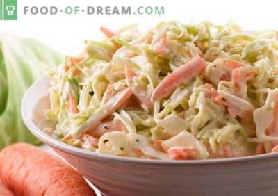 Kapsasalat majoneesiga - parimad retseptid. Kuidas õigesti ja maitsev keedetud salat kapsas ja majoneesiga.