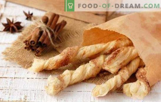 Hojaldre: dulce, salado, ¿para cerveza? Recetas para diversos pasteles hechos de levadura de hojaldre ya preparada y masa regular