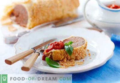 Strudel de carne - las mejores recetas. Cómo preparar adecuadamente un strudel con carne y cómo hacerlo.