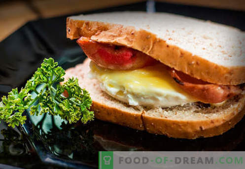 Los sándwiches de huevo son las mejores recetas. Cómo cocinar de forma rápida y sabrosa los sándwiches con huevo.