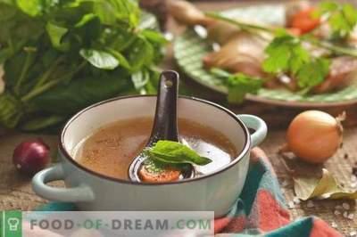 Chicken chicken broth - rich and aromatic