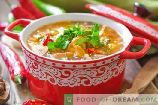 Sopa de pollo Kharcho - las mejores recetas. Cómo cocinar adecuadamente y sabrosa la sopa de Kharcho de pollo.