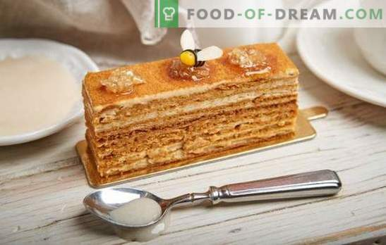 Cómo cocinar fácilmente un delicioso pastel de miel con leche condensada. Recetas clásicas y originales para pasteles de miel con leche condensada