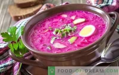Remolacha: una receta paso a paso para la sopa más brillante. Cocinando remolachas frías y calientes clásicas (recetas paso a paso)