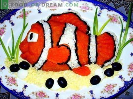 Ensalada de pescado - las mejores recetas. Cómo cocinar adecuadamente y cocinar la ensalada de pescado.