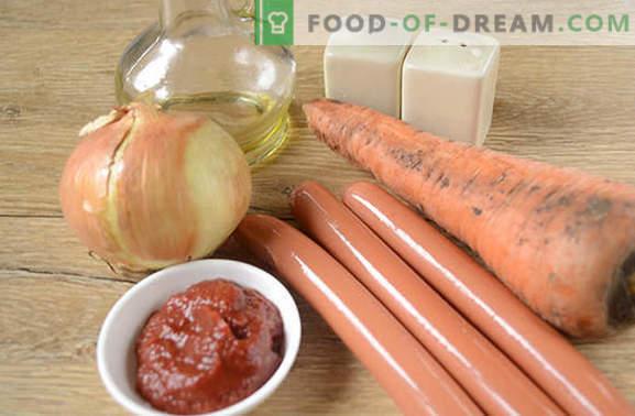 Salsa de salchicha con pasta de tomate: delicioso