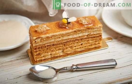 Pastel de miel: receta paso a paso con una foto de tu pastel favorito. Cocinando en casa por medio de recetas paso a paso con una foto de un pastel suave o clásico de miel de nuez