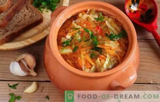 Sopa magra de repollo hecha de chucrut - recetas y secretos de cocina. Cómo cocinar una deliciosa sopa magra de chucrut