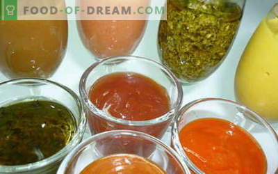 Los aderezos para ensaladas son las mejores recetas. Cómo cocinar correctamente y cocinar la salsa para la ensalada.