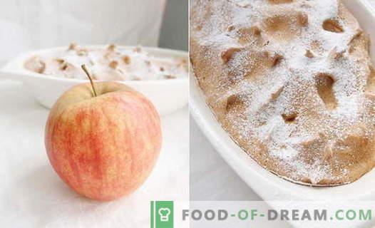 Soufflé de manzana - las mejores recetas. Cómo cocinar rápido y sabroso el soufflé de manzana.
