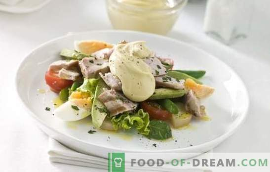 Ensaladas con huevo y mayonesa - una golosina abundante. Recetas originales de hojaldre y ensaladas mixtas simples con huevos y mayonesa