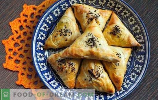 Samsa de levadura casera es un pastel oriental jugoso. Recetas sencillas de levadura Samsa con carne, pollo, requesón