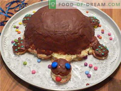 Torta tortuga - las mejores recetas. Cómo cocinar correctamente y sabroso pastel de tortuga.