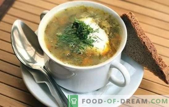 Sopa de chucrut: 10 de las mejores recetas probadas. Los trucos de cocinar sopa de repollo de chucrut: con carne y cereales