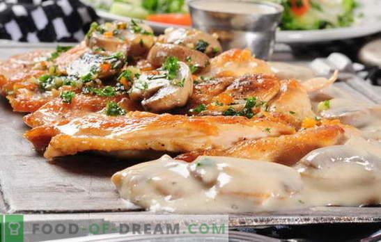 Carne francesa con champiñones en el horno. ¡Nosotros también lo amamos! Recetas francesas de carne con champiñones, tomate, patatas