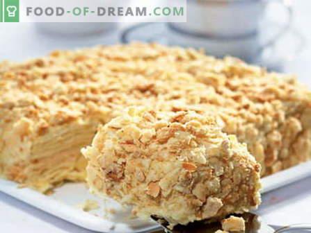 Tortas con leche condensada - las mejores recetas. Cómo cocinar correctamente y sabroso un pastel con leche condensada.
