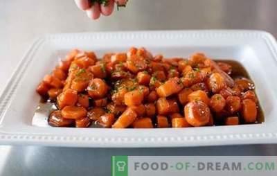 Ensalada de zanahoria frita - ¡delicioso! Recetas de ensalada de zanahoria frita con col china, papas fritas, lengua, champiñones