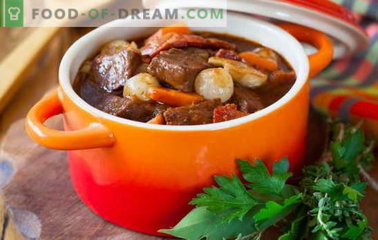 Estofado de cerdo - cocinamos con mucho gusto! Diferentes recetas de estofado de cerdo con verduras, trigo sarraceno, arroz, judías verdes