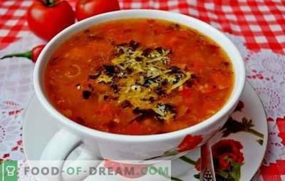 Sopa con tomates - un clásico. Recetas mundiales para cocinar sopas con tomates: sabrosas, saludables, inusualmente
