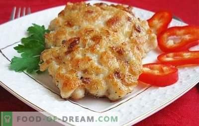 Chuletas de pechuga de pollo: ¿cómo cocinar? Entre semana y días festivos: recetas inusuales para chuletas de pechuga de pollo
