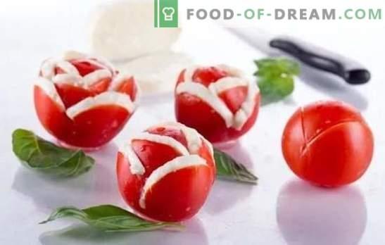 Bocadillos de tomate, ensaladas y guarniciones para el invierno. Recetas probadas de bocadillos de tomate para el menú de invierno: con pimienta, champiñones, nueces