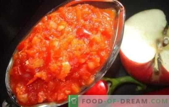 Adjika con manzanas para el invierno: salsa agridulce para toda ocasión. Las mejores recetas adjika con manzanas para el invierno