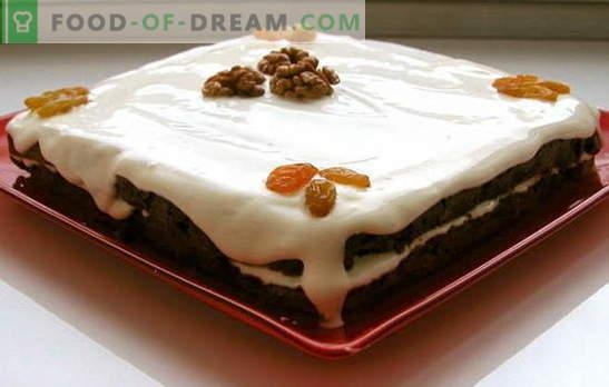 Pastel con pasas y nueces: ¡esto es muy simple! Los secretos básicos del bizcocho para un pastel con pasas, nueces y semillas de amapola