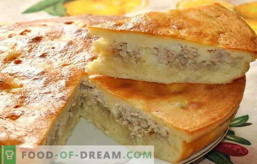 Pastel con carne y papas - las mejores recetas. Cómo cocinar adecuadamente y sabrosos pasteles con carne y papas.