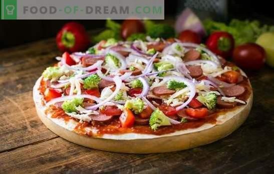 Pizza en 5 minutos: una receta para los que tienen prisa. Cocinar pizza en 5 minutos: de productos que siempre están disponibles y en la nevera