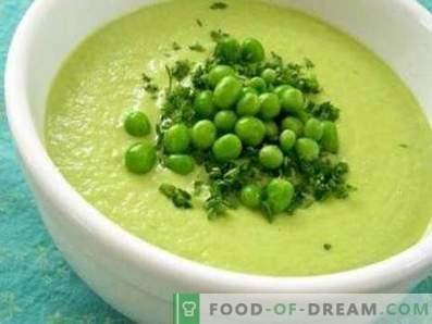 Supă de cremă de mazare verde