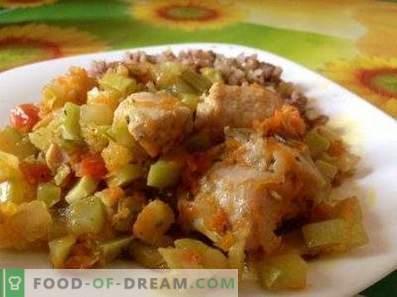 Pollo de pollo guisado con verduras