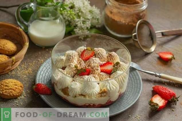 Trifle con fresas - un postre ligero