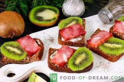Sándwiches de kiwi