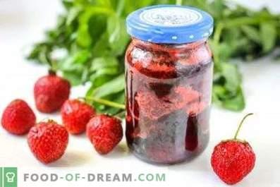 Mermelada de fresa con menta