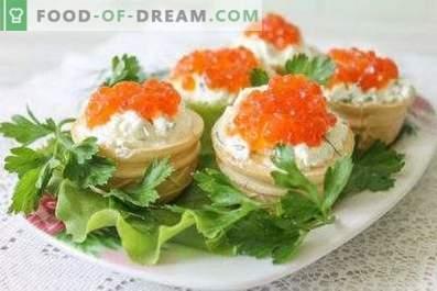 Tartaletas con caviar