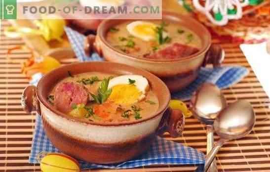 Sopa de salchicha ahumada: un primer plato completo