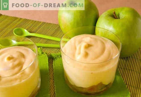 Mousse de manzana - las mejores recetas. Cómo cocinar correctamente y sabroso cocinar mousse de manzana.